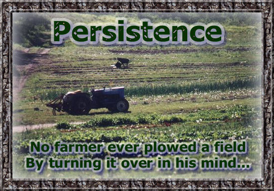 Persistence is the key to getting things done.